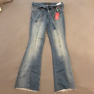 Express Bell Flare High Rise Jeans Size 6S